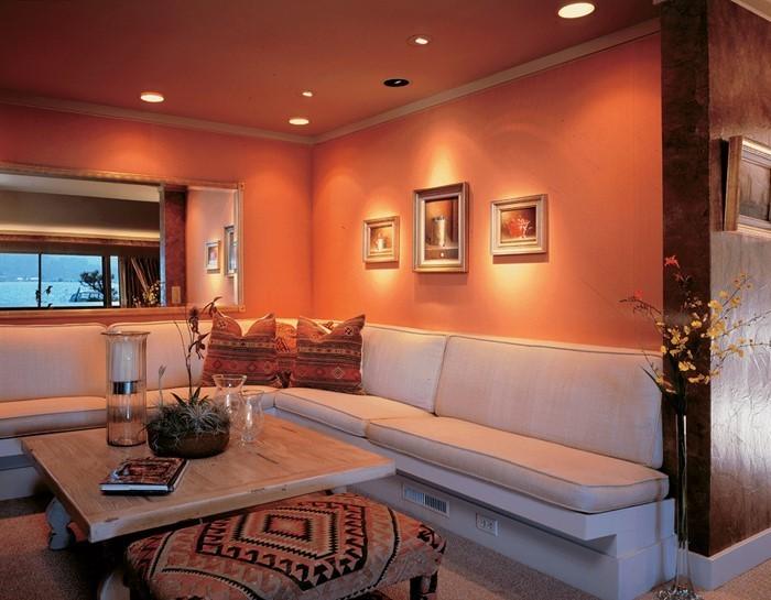 Farben-für-Wohnzimmer-in-Orange-Eine-tolle-Deko