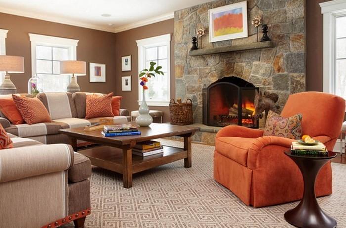 Farben-für-Wohnzimmer-in-Orange-Eine-tolle-Entscheidung