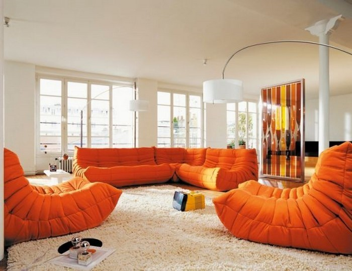 Farben-für-Wohnzimmer-in-Orange-Eine-verblüffende-Atmosphäre