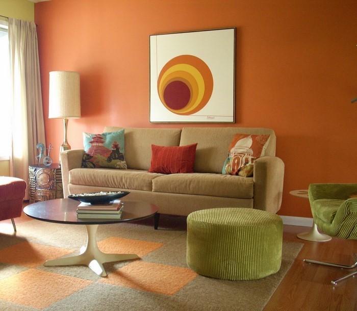 Farben-für-Wohnzimmer-in-Orange-Eine-verblüffende-Ausstattung