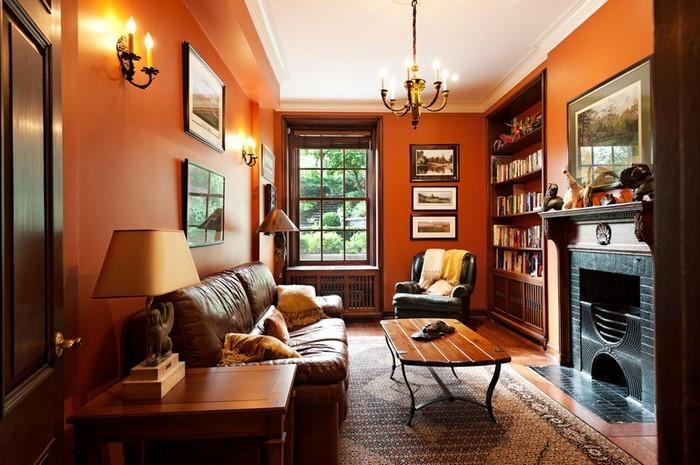 Farben-für-Wohnzimmer-in-Orange-Eine-verblüffende-Ausstrahlung