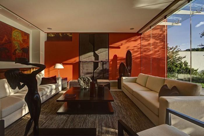 Farben-für-Wohnzimmer-in-Orange-Eine-verblüffende-Dekoration