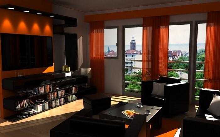 farben f252r wohnzimmer in orange 80 wohnideen