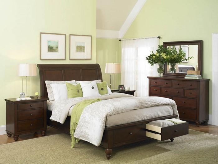 Farben-fürs-Schlafzimmer-Grün-Ein-außergewöhnliches-Interieur