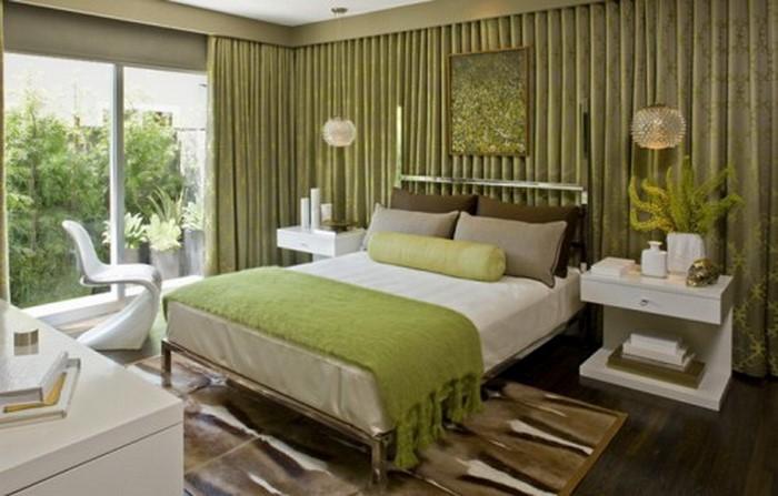 Farben-fürs-Schlafzimmer-Grün-Ein-auffälliges-Design