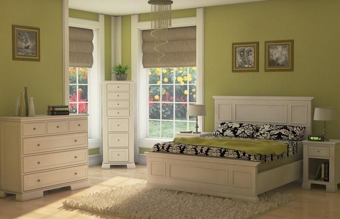 Farben-fürs-Schlafzimmer-Grün-Ein-auffälliges-Interieur