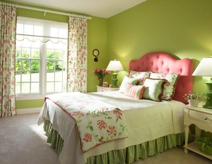 Schlafzimmer Ideen Farbgestaltung Grün ~ Schlafzimmer Farbgestaltung Grün  Wandfarbe Schlafzimmer in Grün