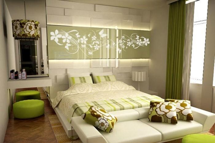 Farben-fürs-Schlafzimmer-Grün-Ein-kreatives-Interieur