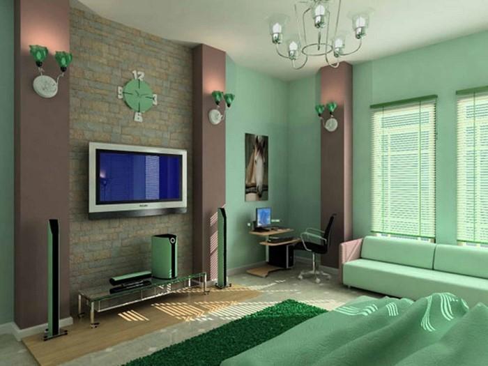 Farben-fürs-Schlafzimmer-Grün-Ein-modernes-Design