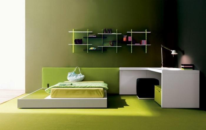 Farben-fürs-Schlafzimmer-Grün-Ein-super-Design
