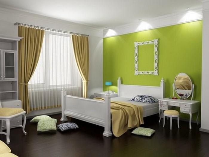 Wohnideen schlafzimmer farbgestaltung grün  Frische Farben fürs Schlafzimmer: 59 Wohnideen in Grün!
