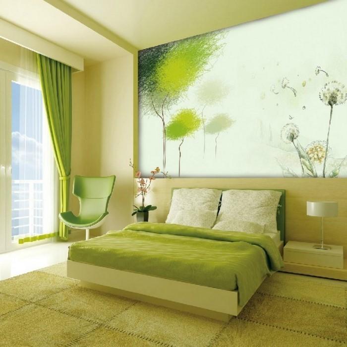 Farben-fürs-Schlafzimmer-Grün-Ein-tolles-Design