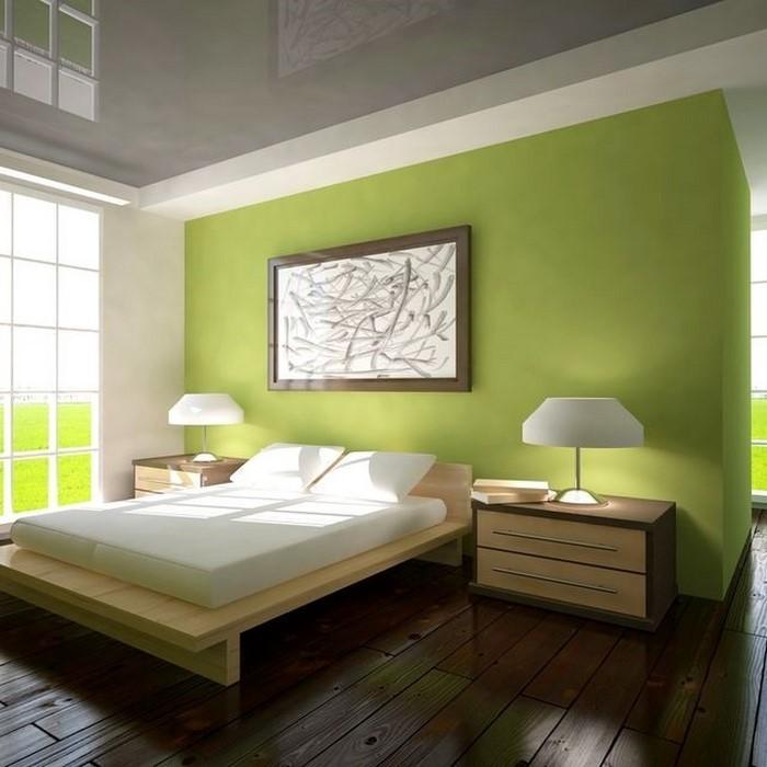 Farben-fürs-Schlafzimmer-Grün-Ein-tolles-Interieur