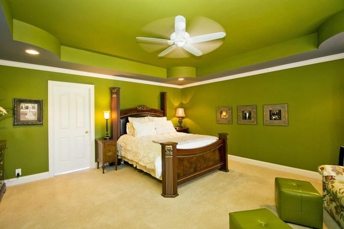 Farben-fürs-Schlafzimmer-Grün-Ein-verblüffendes-Design