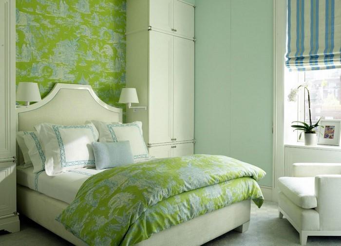 Frische Farben Furs Schlafzimmer 59 Wohnideen In Grun