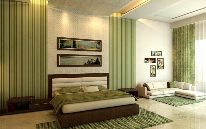 Farben-fürs-Schlafzimmer-Grün-Ein-wunderschönes-Interieur