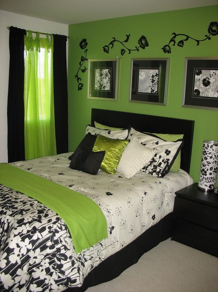 Farben-fürs-Schlafzimmer-Grün-Eine-außergewöhnliche-Entscheidung
