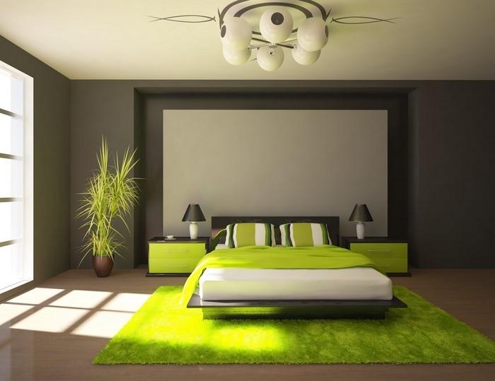 Farben-fürs-Schlafzimmer-Grün-Eine-auffällige-Ausstattung