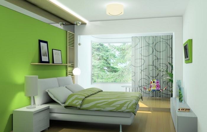 Farben-fürs-Schlafzimmer-Grün-Eine-auffällige-Entscheidung