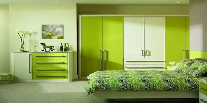 Farben-fürs-Schlafzimmer-Grün-Eine-coole-Еinrichtung