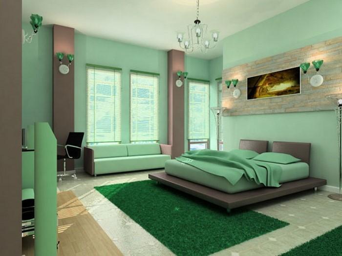 Farben-fürs-Schlafzimmer-Grün-Eine-coole-Ausstattung