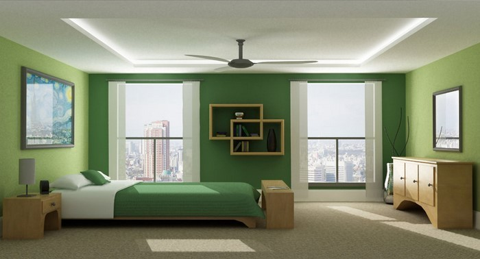Farben-fürs-Schlafzimmer-Grün-Eine-kreative-Ausstattung