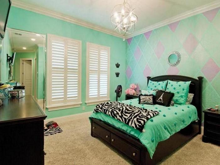 Farben-fürs-Schlafzimmer-Grün-Eine-moderne-Еinrichtung