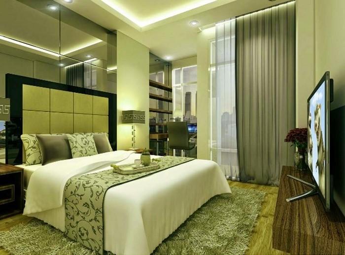 Farben-fürs-Schlafzimmer-Grün-Eine-moderne-Gestaltung