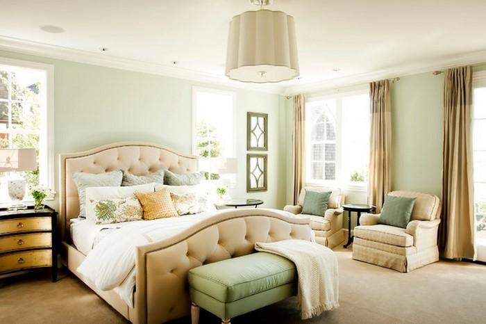 Frische farben f rs schlafzimmer 59 wohnideen in gr n - Schlafzimmer ausstattung ...