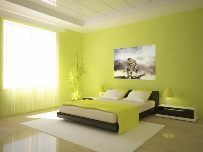 Farben-fürs-Schlafzimmer-Grün-Eine-tolle-Еinrichtung