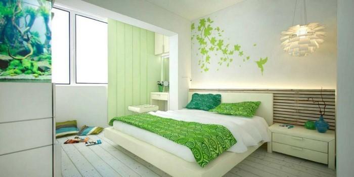 Farben-fürs-Schlafzimmer-Grün-Eine-tolle-Ausstattung