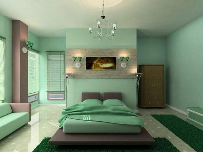 frische farben fürs schlafzimmer: 59 wohnideen in grün!,