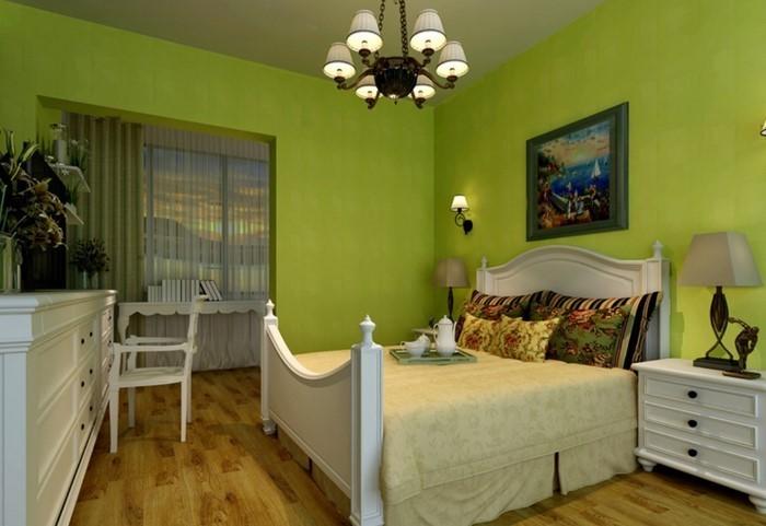 Farben-fürs-Schlafzimmer-Grün-Eine-tolle-Gestaltung