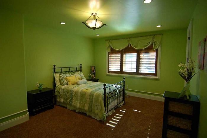 Farben-fürs-Schlafzimmer-Grün-Eine-verblüffende-Еinrichtung