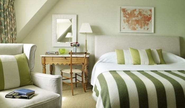 Schlafzimmer ideen farbgestaltung grün  Frische Farben fürs Schlafzimmer: 59 Wohnideen in Grün!