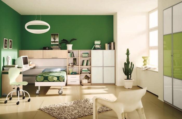 Farben-fürs-Schlafzimmer-Grün-Eine-verblüffende-Gestaltung