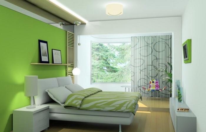 Farben-fürs-Schlafzimmer-Grün-Eine-wunderschöne-Еinrichtung