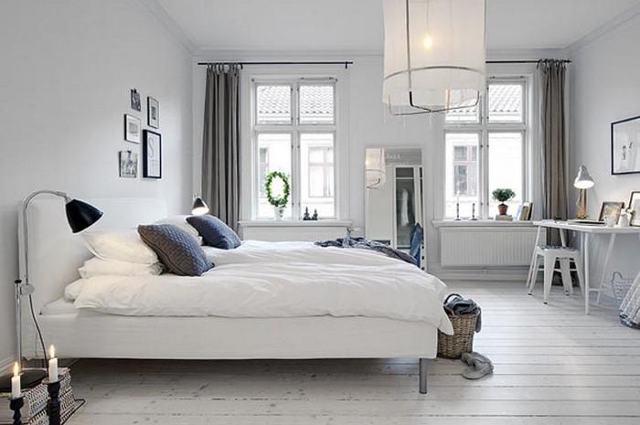 Wohnideen schlafzimmer farbgestaltung  Frische Farben fürs Schlafzimmer: 74 Wohnideen in Weiß!