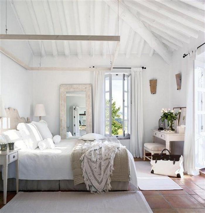 Farben-fürs-Schlafzimmer Weiß-Eine-wunderschöne-Gestaltung (Copy)