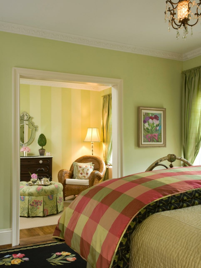 Feng-Shui-Schlafzimmer-in-grüner-Farbe