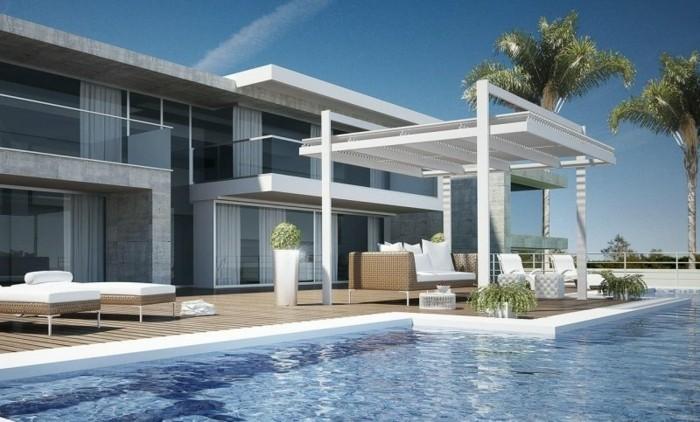 Freistehende-Terrassenüberdachung-am-pool-ferienhaus