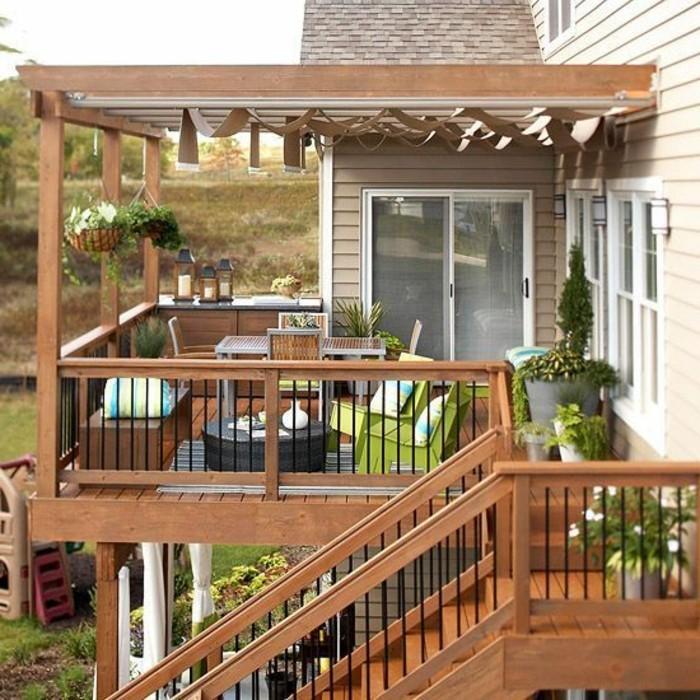 Garten-pergola-für-terrasse-terrassenüberdachung-aus-holz