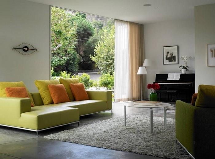 Grünes-Wohnzimmer-Design-Ein-außergewöhnliches-Design