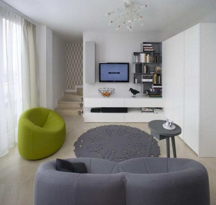 Grünes-Wohnzimmer-Design-Ein-auffälliges-Design