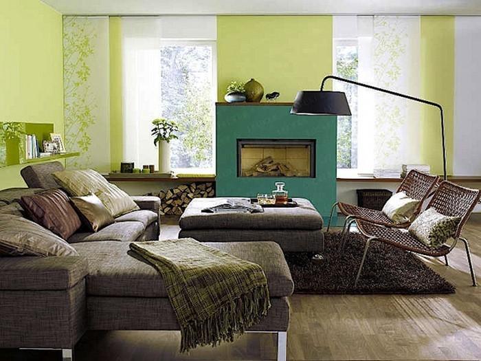 Grünes-Wohnzimmer-Design-Ein-tolles-Interieur