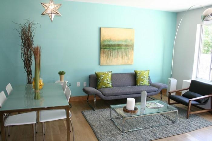 Wohnzimmer design wandfarbe  Grünes Wohnzimmer Design: 76 tolle Tipps und Tricks