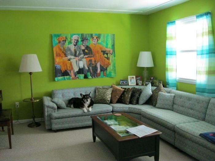 Grünes-Wohnzimmer-Design-Ein-wunderschönes-Interieur