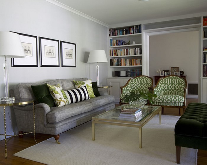 Gr nes wohnzimmer design 76 tolle tipps und tricks - Minimalistisches wohnzimmer ...