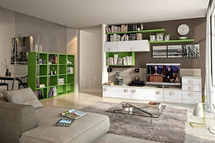 Grünes-Wohnzimmer-Design-Eine-außergewöhnliche-Dekoration