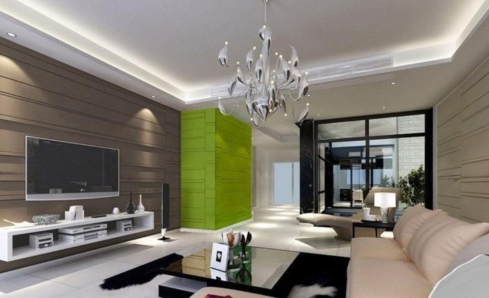 Grünes-Wohnzimmer-Design-Eine-außergewöhnliche-Entscheidung